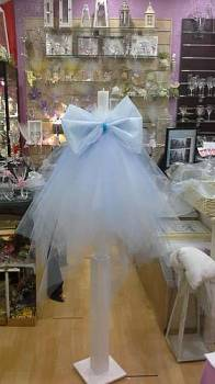 blue  simple  bow