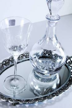 Set strass tray with bohemia decanter