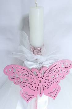Wooden butterfly pink